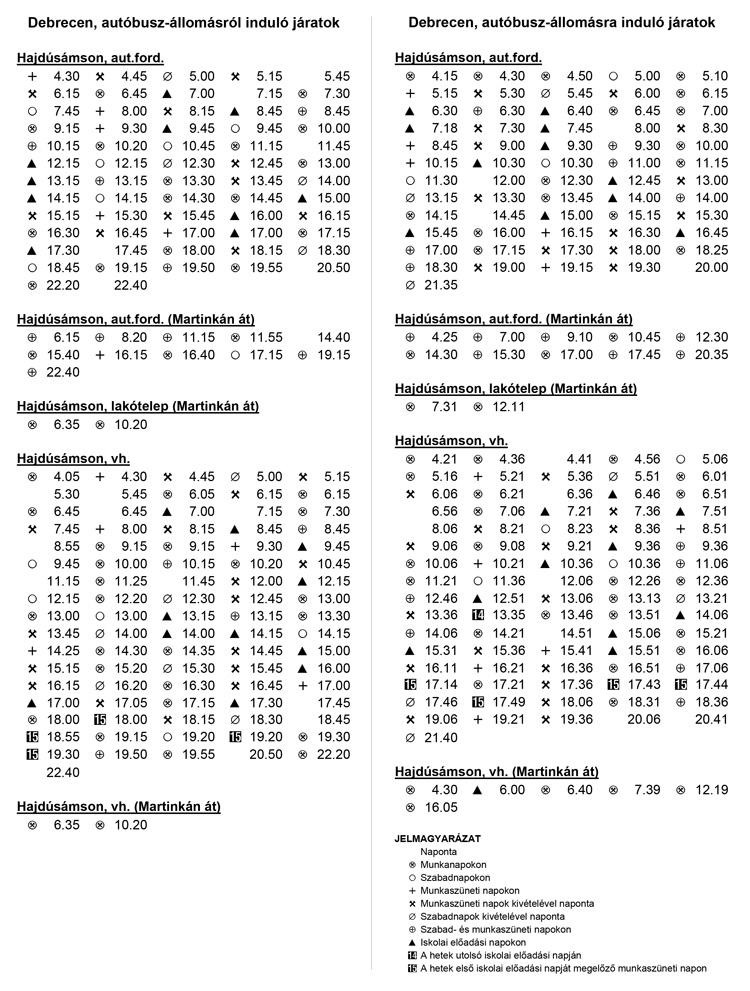 debrecen autóbusz állomás térkép Busz menetrend   Hajdúsámson debrecen autóbusz állomás térkép