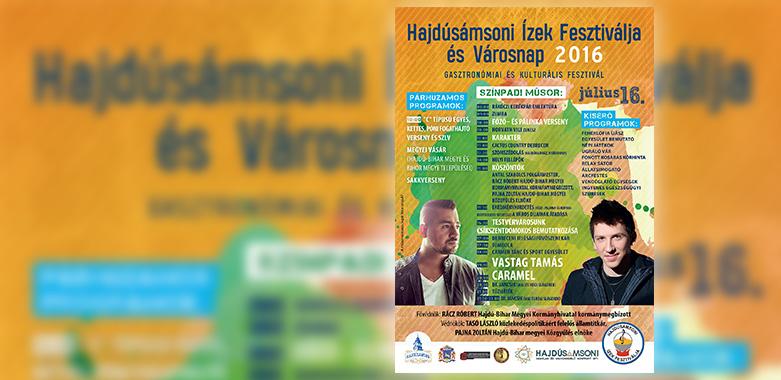 Hajdúsámsoni Ízek Fesztiválja és Városnap 2016 – PROGRAM
