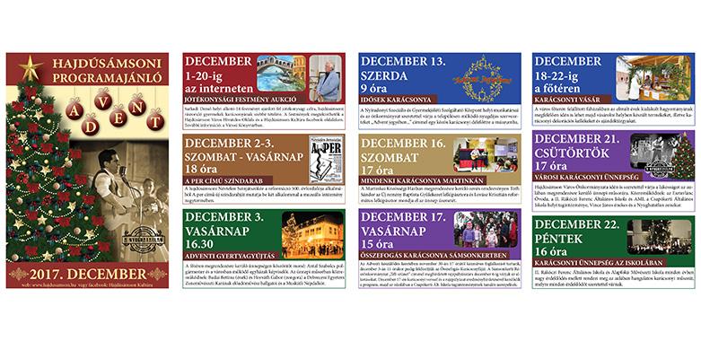 Decemberi programajánló 2017