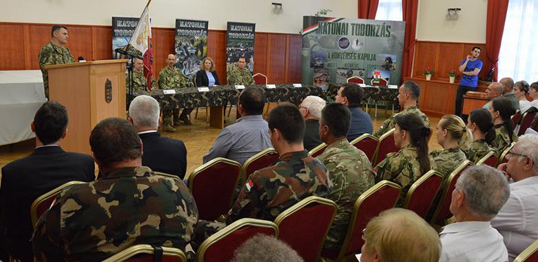 Egyre több tartalékos katona szolgál a megyében