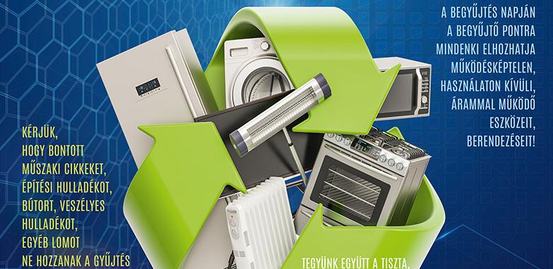 Ingyenes lakossági elektromos és elektronikai hulladékok gyűjtése