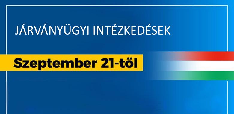 Járványügyi intézkedések – 2020. szeptember 21-től